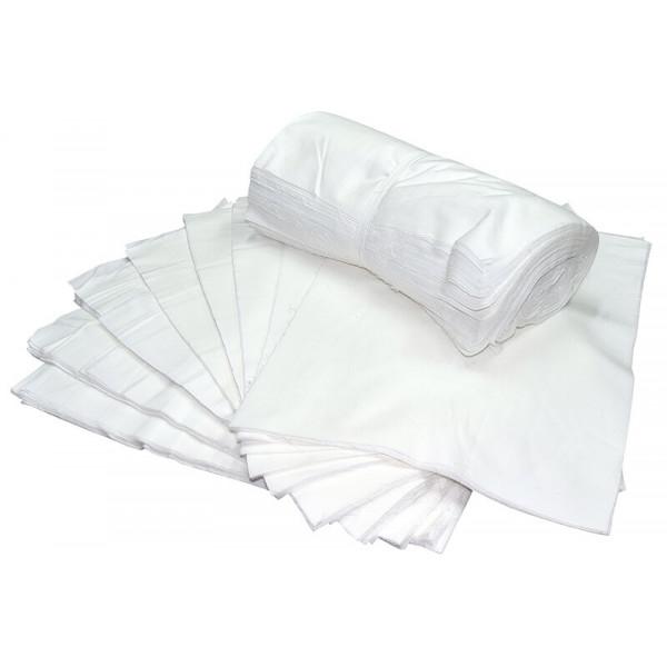 Салфетка техническая бесшовная 40*40, белая (бязь)