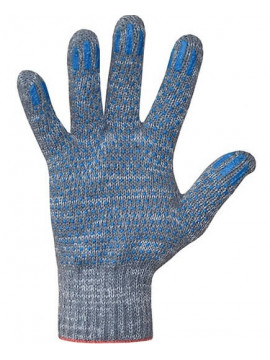 Перчатки хлопчатобумажные 10 класс 4 нити ПВХ точка