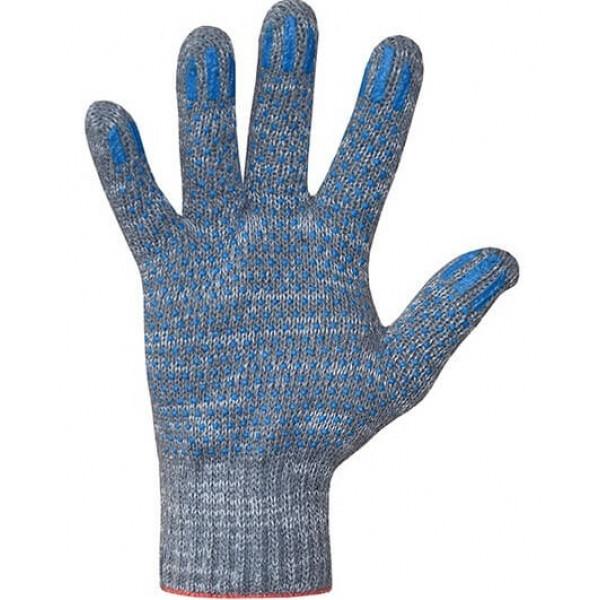 Перчатки хлопчатобумажные 7,5 класс 4 нити ПВХ точка