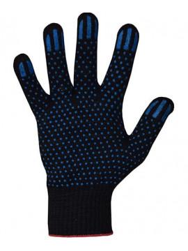 Перчатки хлопчатобумажные 10 класс 3 нити ПВХ точка