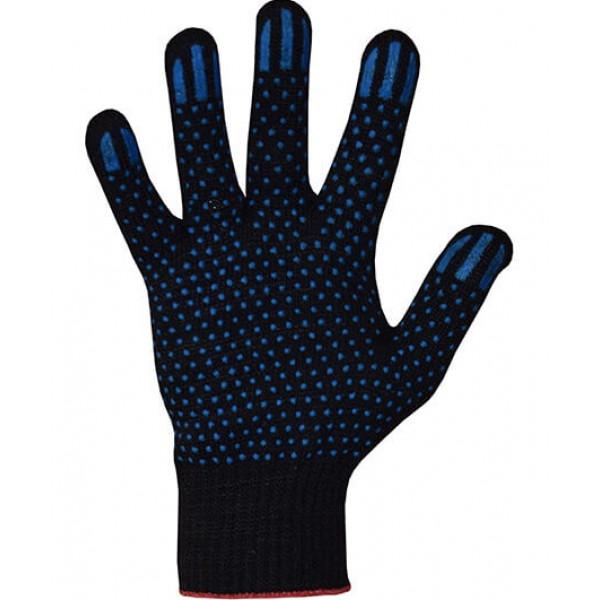 Перчатки хлопчатобумажные 10 класс 5 нитей ПВХ точка