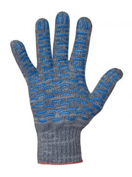 Перчатки хлопчатобумажные 10 класс 4 нити ПВХ волна