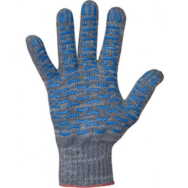 Перчатки хлопчатобумажные 7,5 класс 4 нити ПВХ волна