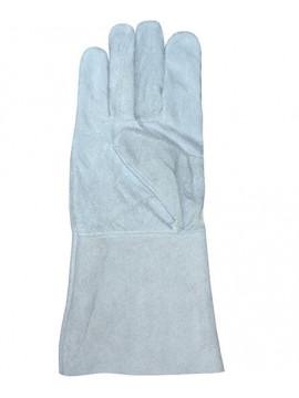 Краги спилковые серый холодные (пятипалые)